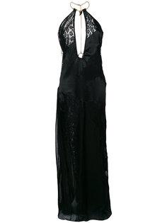платье с кружевной вставкой  Roberto Cavalli
