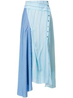 расклешенная юбка с контрастными полосками  3.1 Phillip Lim