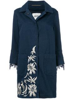 пальто с цветочной вышивкой и кружевной отделкой Bazar Deluxe