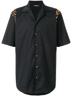 рубашка с леопардовым принтом Dsquared2