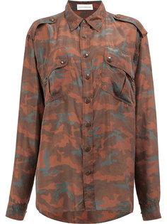 рубашка с камуфляжным принтом  Faith Connexion