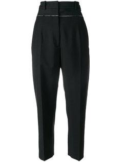 укороченные брюки с высокой посадкой Jil Sander