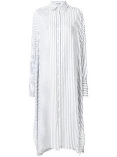 платье-рубашка с полосатым узором Jil Sander