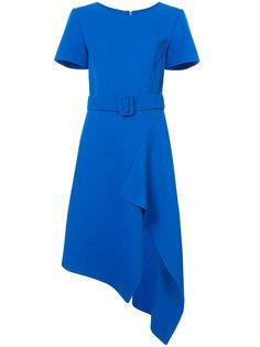 платье с поясом и асимметричным подолом Oscar de la Renta