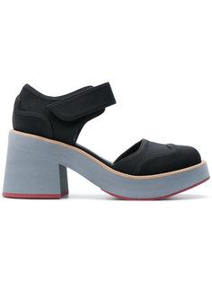 туфли на контрастных каблуках Marni