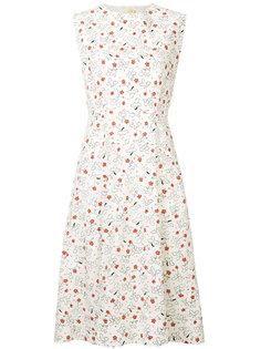 приталенное расклешенное платье с принтом Marni