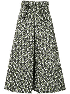 юбка с цветочным принтом и завязками Marni