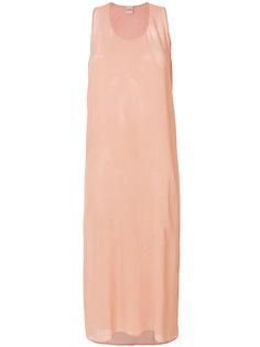 струящееся прозрачное платье Nude