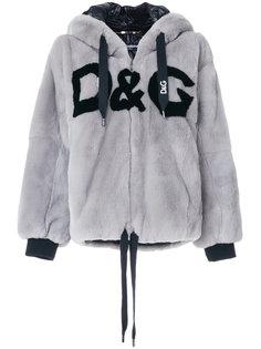 шуба из кроличьего меха с капюшоном Dolce & Gabbana