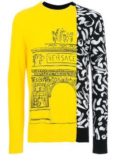свитер с вышивкой Demi Arco-Scribble Versace