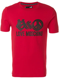 logo print T-shirt  Love Moschino