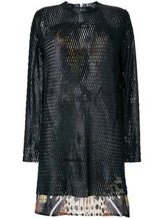 платье с перфорацией Roberto Cavalli