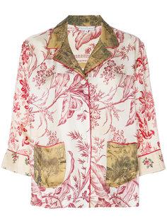 блузка с цветочным принтом Pierre-Louis Mascia