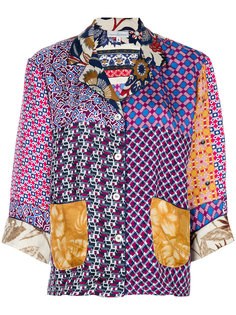 """рубашка дизайна """"пэчворк"""" Pierre-Louis Mascia"""