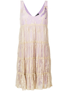 расклешенное платье с кружевным верхним слоем  Twin-Set