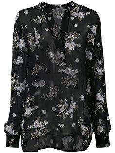 полупрозрачная блузка с цветочным рисунком Vince