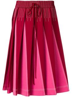 плиссированная А-образная юбка  Valentino