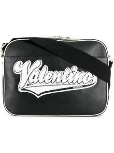 сумка-мессенджер с нашивкой логотипа Valentino