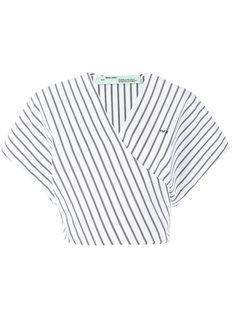 укороченная блузка в полоску  Off-White