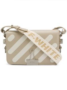 сумка Binder Clip в полоску Off-White