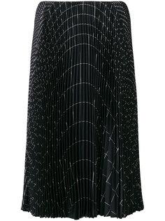 А-образная плиссированная юбка  Salvatore Ferragamo