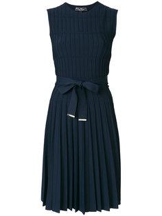 плиссированное платье миди Salvatore Ferragamo