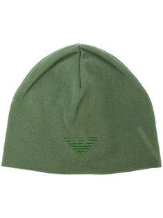 шапка-бини с логотипом Emporio Armani