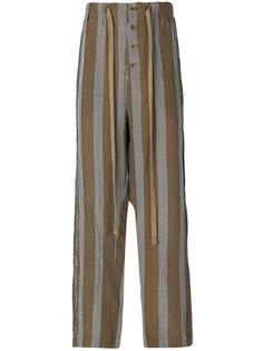широкие полосатые брюки Uma Wang