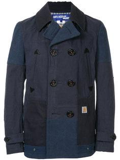 лоскутное двубортное пальто Junya Watanabe Comme Des Garçons Man