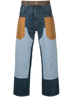 прямые лоскутные джинсы Junya Watanabe Comme Des Garçons Man