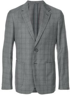 пиджак с клетчатым узором Prada