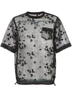 сетчатая рубашка на затяжках Sacai
