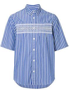 рубашка в полоску с орнаментом Sacai