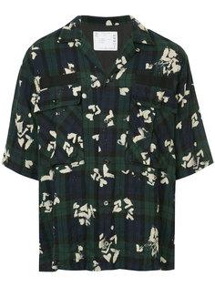 рубашка в клетку с цветочным принтом Sacai