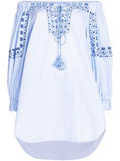 полосатая блузка с вышивкой Ermanno Scervino