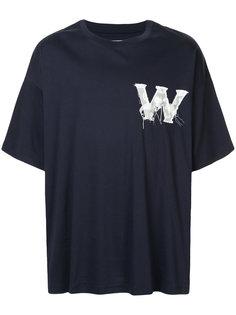 футболка с принтом логотипа Wooyoungmi