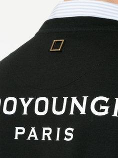 футболка с нашивкой логотипа Wooyoungmi