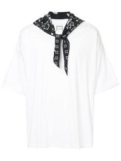 футболка с воротником-банданой Wooyoungmi