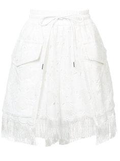 шорты с эластичным поясом Sacai