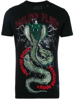 футболка с принтом змеи Philipp Plein