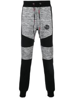 спортивные брюки с панельным дизайном Plein Sport