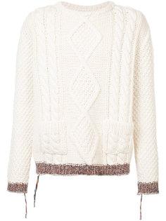 свитер ручной вязки косами Maison Margiela