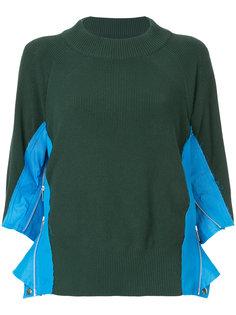 свитер в рубчик на молнии Sacai