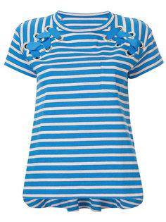 футболка в полоску со шнуровкой Sacai