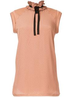 блузка с оборками и перфорацией Nº21