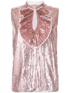 блузка с пайетками без рукавов Nº21