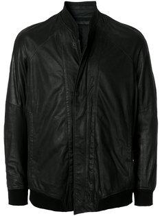 кожаная куртка-бомбер со стоячим воротником Julius