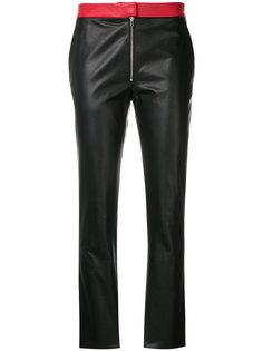 брюки скинни с контрастными карманами  Victoria Beckham