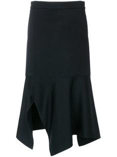 асимметричная юбка с разрезом  Victoria Beckham