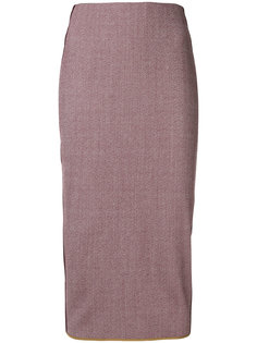 юбка-карандаш с полосками сбоку  Victoria Beckham